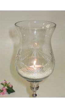 Glasbel groot 13 cm, clear guirlande