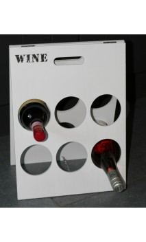 Wijnrekje voor 6 flessen 40 x 30 cm