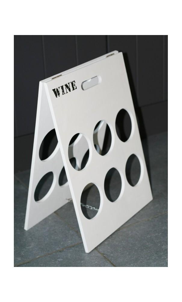 Houten Wijnrek Wit.Wit Houten Wijnrek Geschikt Voor 6 Flessen In Eenvoudige Uitvoering
