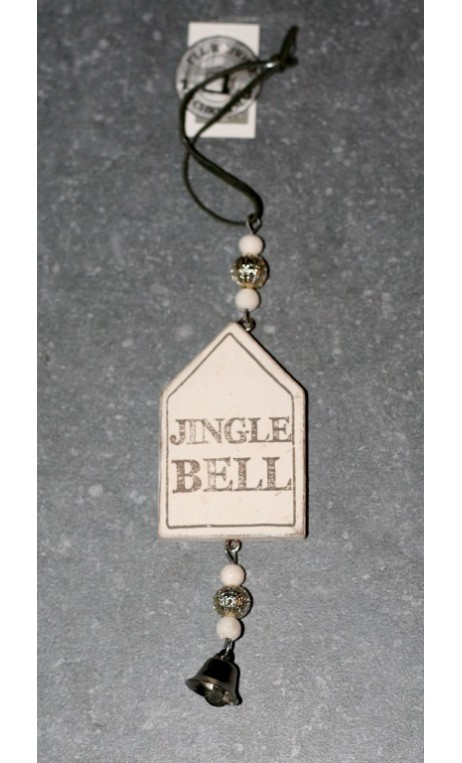 Wooden house quotes Jingle Bells 11 cm