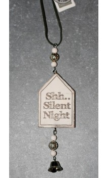 Wooden house quotes Shh Silent night 11 cm