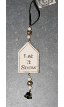 Wooden house quotes Let it snow 11 cm