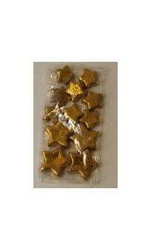 Decoratiesterren goud 12 stuks in zakje