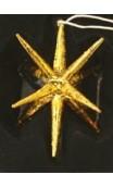 Goudkleurige decoratiehanger /ster ca. 10 cm