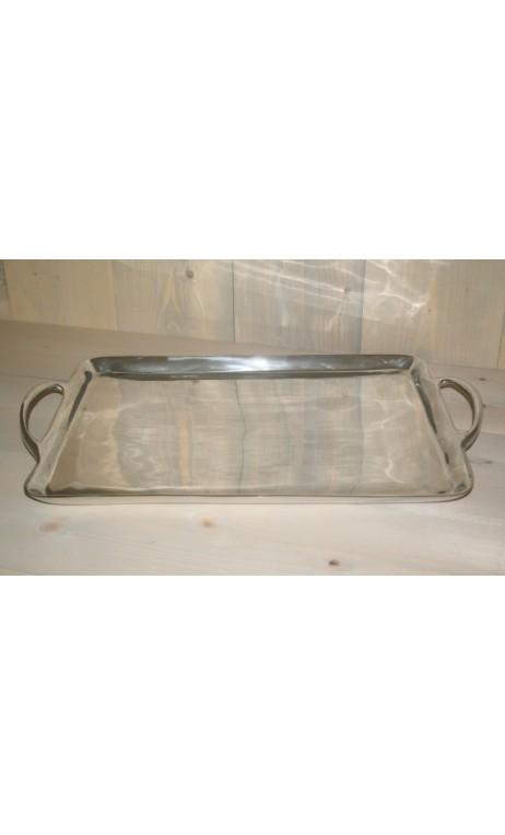 Dienblad / sierblad aluminium 47 x 36 cm