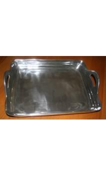 Dienblad /decoratieschaal aluminium met handvatten 45 x 35 cm
