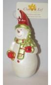 Sneeuwman kerstbal 11 cm