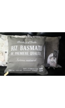 Stoer grijs kussen Basmati 50*50 cm