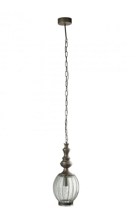 Hanglamp bol met /gl grijs 22 x 22 x 155 cm
