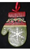 handschoen ornament sneewvlok voorzijde