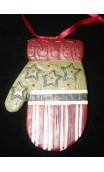 handschoen ornament streep voorzijde