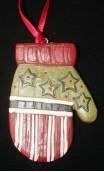 handschoen ornament streep achterzijde