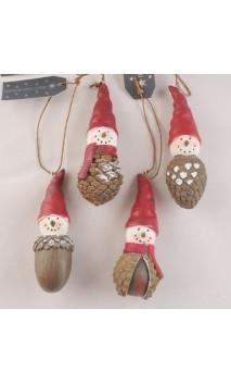 Acorn (eikel) sneeuwpopje hangend 10 cm
