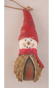 Chestnut (kastanje) sneeuwpopje hangend 10 cm