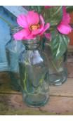 Glazen fles ca. 12 cm hoog
