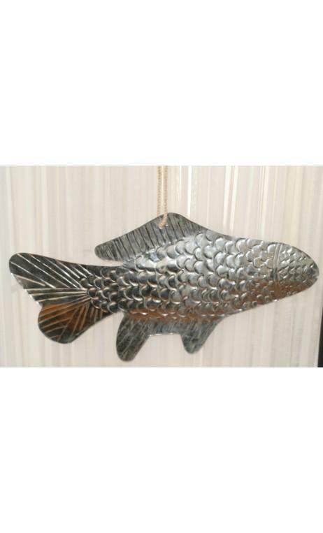 Vis atlantic metaal aan koord