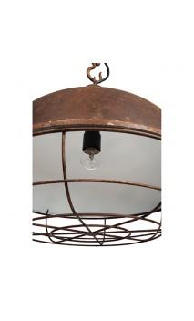 Lamp hang katrol KAP met/ht roest/nat 44 x 43 x 160cm