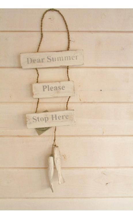 Tekstbord hanger Dear Summer vis