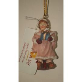 Decoratie meisje hangend 7 cm