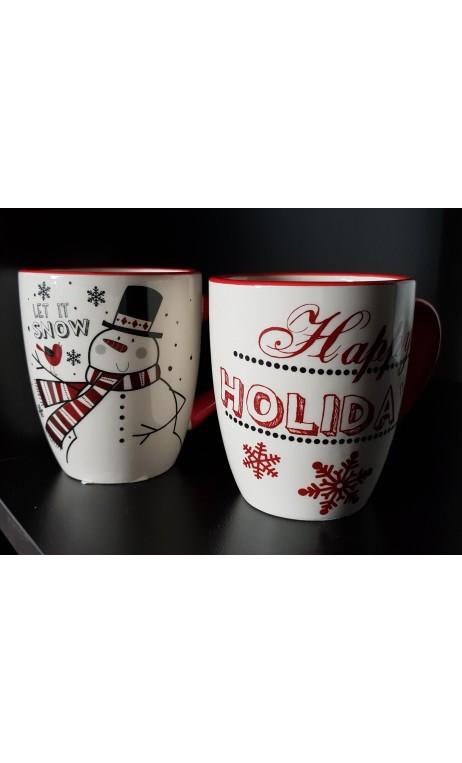 """Beker kerstdecor """"happy Holiday"""""""